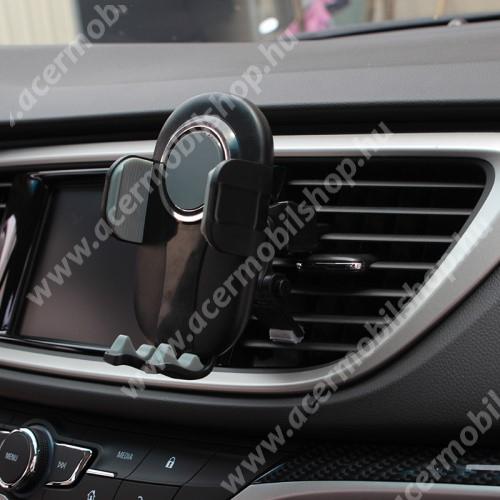 """ACER N300 UNIVERZÁLIS autós / gépkocsi tartó - FEKETE / SZÜRKE - szellőzőrácsra rögzíthető, 4.7-6.5""""-os készülékekig"""