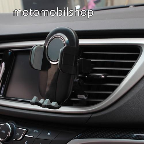 """MOTOROLA U6 UNIVERZÁLIS autós / gépkocsi tartó - FEKETE / SZÜRKE - szellőzőrácsra rögzíthető, 4.7-6.5""""-os készülékekig"""