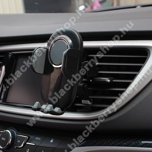 BLACKBERRY 8220 Pearl FlipUNIVERZÁLIS autós / gépkocsi tartó - FEKETE / SZÜRKE - szellőzőrácsra rögzíthető, 4.7-6.5