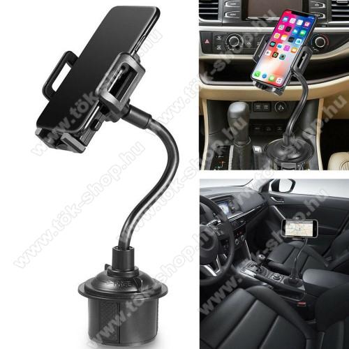 Motorola One MacroUNIVERZÁLIS autós / gépkocsi tartó - pohártartóba rögzíthető, 360°-ban forgatható, 3-6.5