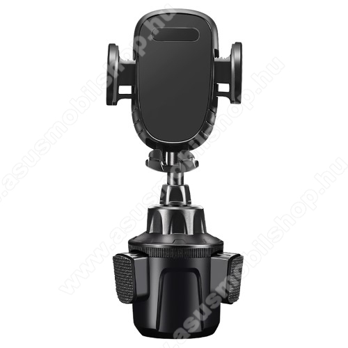 UNIVERZÁLIS autós / gépkocsi tartó - pohártartóba rögzíthető, 360°-ban forgatható, 4.7-6.8