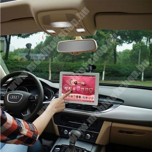 """Meizu C9 UNIVERZÁLIS autós / gépkocsi tartó - tapadókorongos, 27cm-es hosszú karral!, 360°-ban forgatható - 5-10"""" készülékekig használható"""