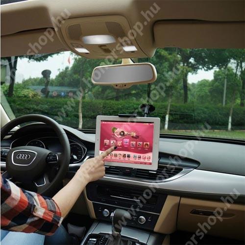 """HUAWEI Honor 9 UNIVERZÁLIS autós / gépkocsi tartó - tapadókorongos, 27cm-es hosszú karral!, 360°-ban forgatható - 5-10"""" készülékekig használható"""