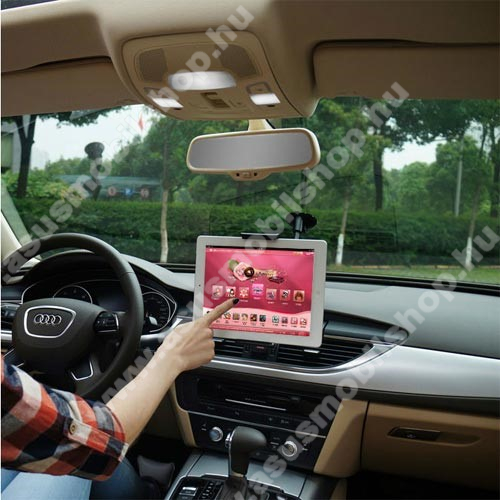 UNIVERZÁLIS autós / gépkocsi tartó - tapadókorongos, 27cm-es hosszú karral!, 360°-ban forgatható - 5-10