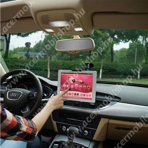 """UNIVERZÁLIS autós / gépkocsi tartó - tapadókorongos, hosszú karral!, 360°-ban forgatható - 5-10"""" készülékekig használható"""