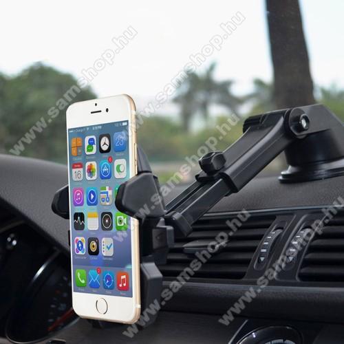 SAMSUNG Galaxy Note9 (SM-N960F/U/X)UNIVERZÁLIS autós / gépkocsi tartó - tapadókorongos, szélvédőre vagy műszerfalra rögzíthető, 360°-ban forgatható, kihúzható 16 cm-es kar, 4-6.5