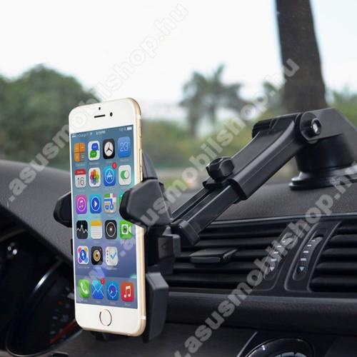 ASUS PadFone XUNIVERZÁLIS autós / gépkocsi tartó - tapadókorongos, szélvédőre vagy műszerfalra rögzíthető, 360°-ban forgatható, kihúzható 16 cm-es kar, 4-6.5