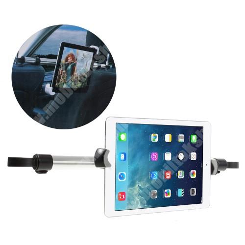 APPLE iPad Pro 12.9 UNIVERZÁLIS autós tablet PC tartó - fejtámla rúdra rögzíthető, 360°-ban forgatható, 240-410mm-ig állítható bölcsővel