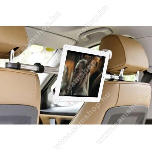 SAMSUNG P1010 Galaxy TabUNIVERZÁLIS autós tablet PC tartó - fejtámla rúdra rögzíthető, 185-300mm-ig állítható bölcsővel