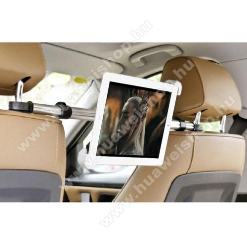 HUAWEI MediaPad T3 7.0UNIVERZÁLIS autós tablet PC tartó - fejtámla rúdra rögzíthető, 185-300mm-ig állítható bölcsővel, 52-73cm-ig állítható fejtámlák közti rögzítő sínnel