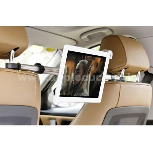 APPLE iPad 9.7 (2018)UNIVERZÁLIS autós tablet PC tartó - fejtámla rúdra rögzíthető, 185-300mm-ig állítható bölcsővel