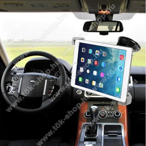 UNIVERZÁLIS autós tablet PC tartó - tapadókorongos, szélvédőre rögzíthető, 360°-ban forgatható, 7-12