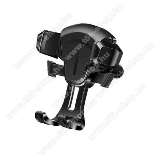 UNIVERZÁLIS autós tartó / állvány - szellőzőrácsra rögzíthető, 65-88mm-ig állítható bölcső, 4-6.5