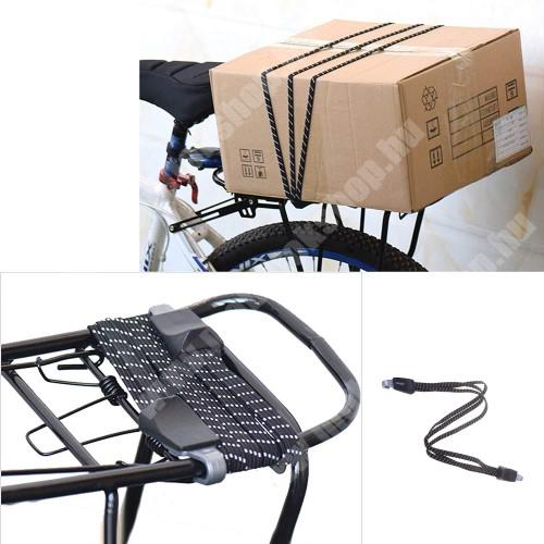 PRESTIGIO MultiPad 8.0 PRO DUO UNIVERZÁLIS biciklis / kerékpáros gumipók / csomagrögzítő - 1db, 68cm hosszú, duplakampós - FEKETE