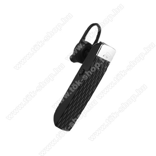 UNIVERZÁLIS bluetooth mono headset - FEKETE - V5.0, beépített mikrofon, fülbe dugható, beépített 100mAh akkumulátor, 6-7 óra beszélgetési idő