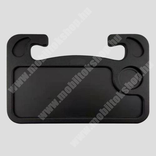 PRESTIGIO MultiPad 8.0 PRO DUO UNIVERZÁLIS étkezőasztal / laptop tartó / tálca autóba - kormányra rögzíthető, pohártartó, 560g, 425 x 285 x 25 mm - FEKETE