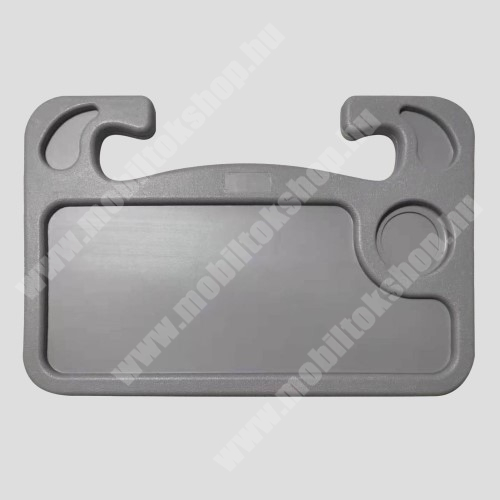 PRESTIGIO MultiPad 8.0 PRO DUO UNIVERZÁLIS étkezőasztal / laptop tartó / tálca autóba - kormányra rögzíthető, pohártartó, 560g, 425 x 285 x 25 mm - SZÜRKE
