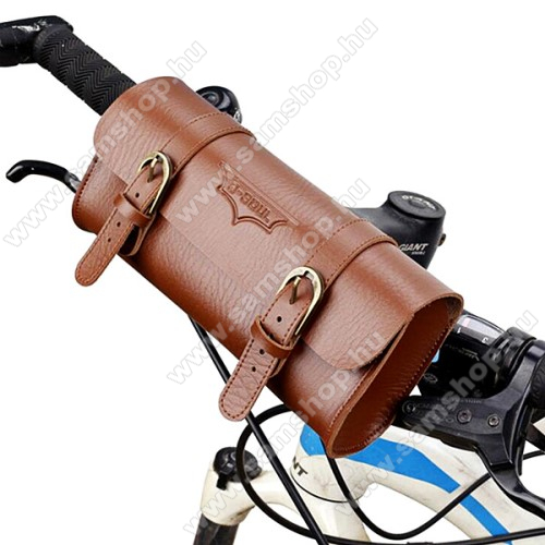 SAMSUNG GT-E1120Univerzális fekvő tok, táska, biciklire szerelhető - 220 x 50 x 50 mm - BARNA