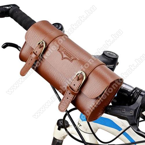 Univerzális fekvő tok, táska, biciklire szerelhető - 220 x 50 x 50 mm - BARNA
