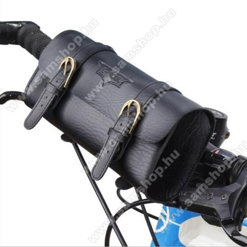 SAMSUNG GT-E1120Univerzális fekvő tok, táska, biciklire szerelhető - 220 x 50 x 50 mm - FEKETE