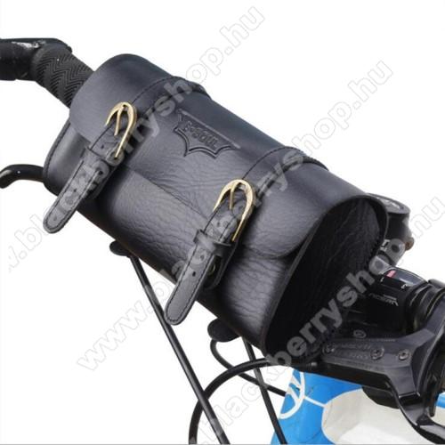 BLACKBERRY 8110 PearlUniverzális fekvő tok, táska, biciklire szerelhető - 220 x 50 x 50 mm - FEKETE