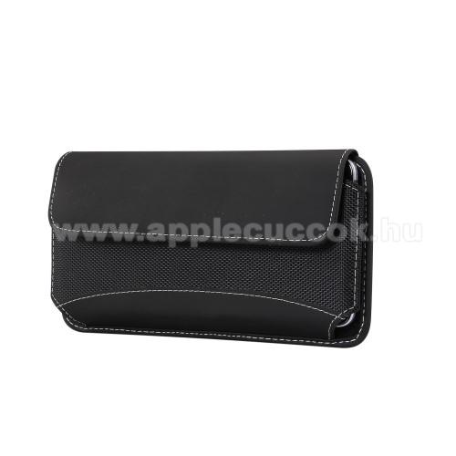 APPLE iPhone XSUNIVERZÁLIS fekvő tok - tépőzáras záródás, övre fűzhető, gumis - 165 x 87 x 18mm - 5,7-6,3