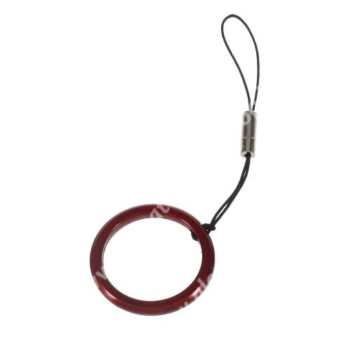 ALCATEL A5 LED UNIVERZÁLIS fém ujjgyűrű - Biztos fogás készülékéhez - PIROS