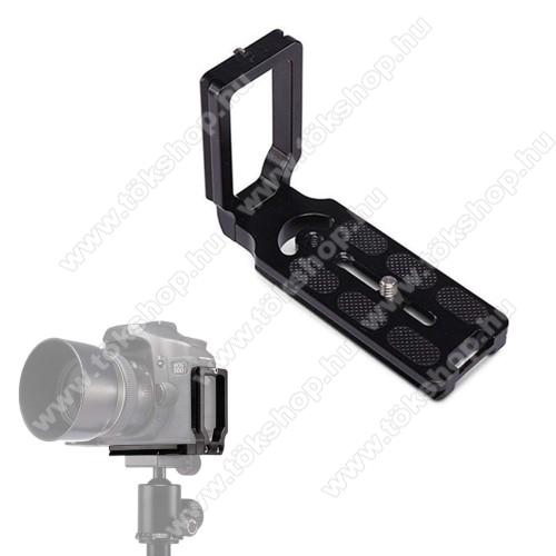UNIVERZÁLIS fényképezőgép tartó fotózáshoz - állványra rögzíthető, alumínium, 360 fokban forgatható, univerzális 1/4