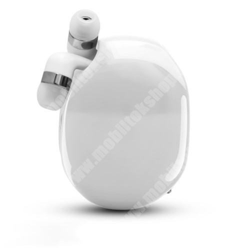 ALCATEL A30 UNIVERZÁLIS fülhallgató / headset / tartó tok / kábel szervező - felcsévélhető kábel - FEHÉR