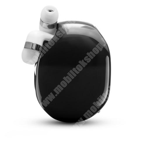 ALCATEL A30 UNIVERZÁLIS fülhallgató / headset / tartó tok / kábel szervező - felcsévélhető kábel - FEKETE