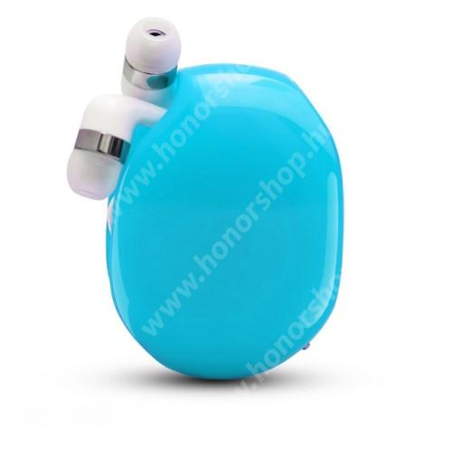 HUAWEI Honor V40 5G UNIVERZÁLIS fülhallgató / headset / tartó tok / kábel szervező - felcsévélhető kábel - KÉK