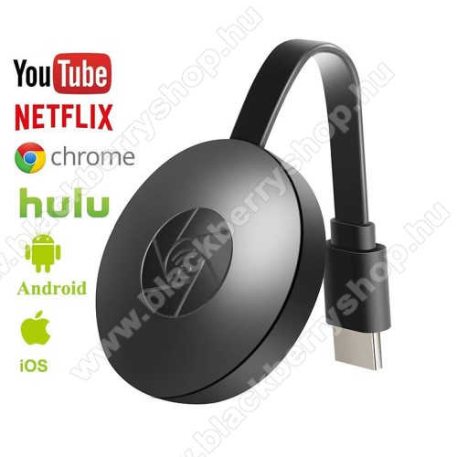 UNIVERZÁLIS G2 Vezeték nélküli HDMI TV streaming médialejátszó - Wi-Fi, Miracast / Airplay / DLNA, 4K felbontásra is képes! - FEKETE