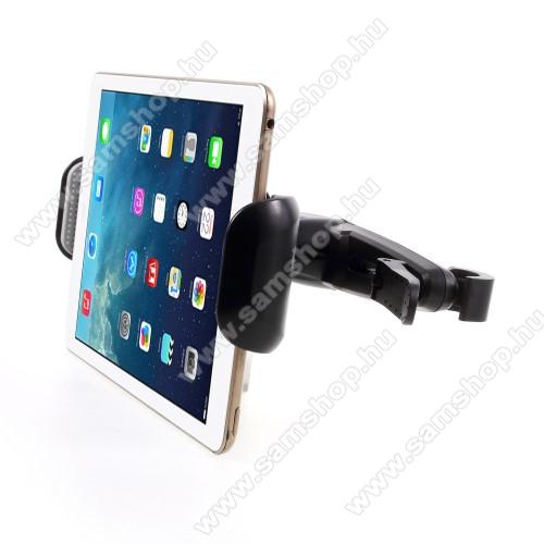 SAMSUNG P5100 Galaxy Tab 2 10.1UNIVERZÁLIS gépkocsi / autós tartó - 155-255mm-ig állíthatóbölcső, elforgatható, fejtámlára szerelhető tartóval - FEKETE