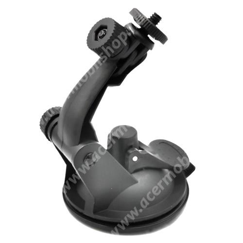 """ACER Liquid X1 UNIVERZÁLIS gépkocsi / autós tartó - FEKETE - univerzális 1/4""""-es csatlakozó, tapadó korongos / szélvédőre helyezhető, 360°-ban forgatható"""
