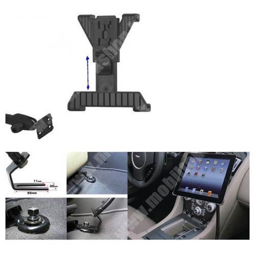 APPLE iPad mini 2 UNIVERZÁLIS gépkocsi / autós tartó - GPS / TABLET - állítható, üléssínhez rögzíthető