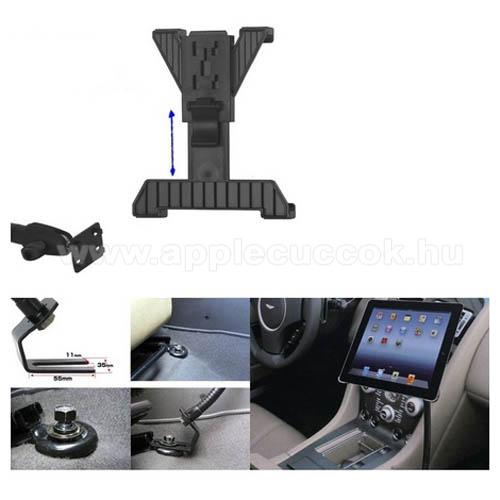 APPLE iPad 9.7 (2018)UNIVERZÁLIS gépkocsi / autós tartó - GPS / TABLET - állítható, üléssínhez rögzíthető