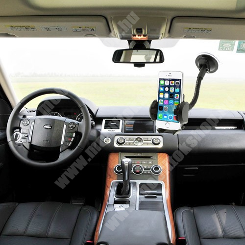 SAMSUNG GT-E1180 UNIVERZÁLIS gépkocsi / autós tartó - multifunkciós - szélvédőre vagy szellőző rácsra helyezhető - 45-120 mm-ig nyíló bölcsővel