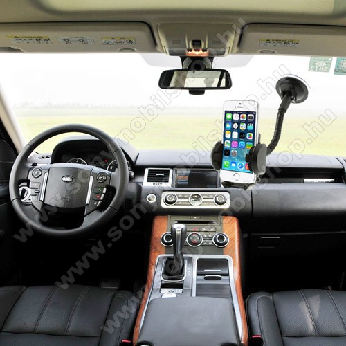 SONY Xperia 10 (2019)UNIVERZÁLIS gépkocsi / autós tartó - multifunkciós - szélvédőre vagy szellőző rácsra helyezhető - 45-120 mm-ig nyíló bölcsővel