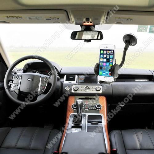 UNIVERZÁLIS gépkocsi / autós tartó - multifunkciós - szélvédőre vagy szellőző rácsra helyezhető - 45-120 mm-ig nyíló bölcsővel