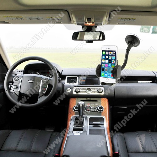 SAMSUNG SM-A750F Galaxy A7 (2018)UNIVERZÁLIS gépkocsi / autós tartó - multifunkciós - szélvédőre vagy szellőző rácsra helyezhető - 45-120 mm-ig nyíló bölcsővel