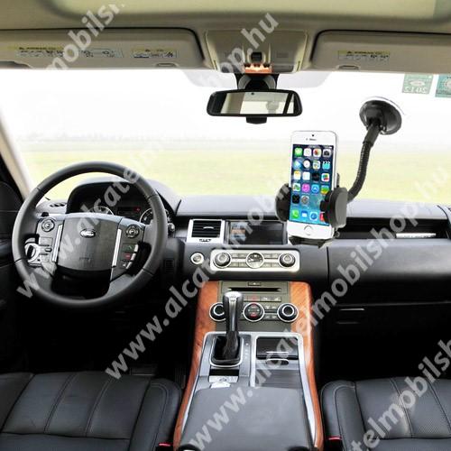 ALCATEL A3 XL UNIVERZÁLIS gépkocsi / autós tartó - multifunkciós - szélvédőre vagy szellőző rácsra helyezhető - 45-120 mm-ig nyíló bölcsővel