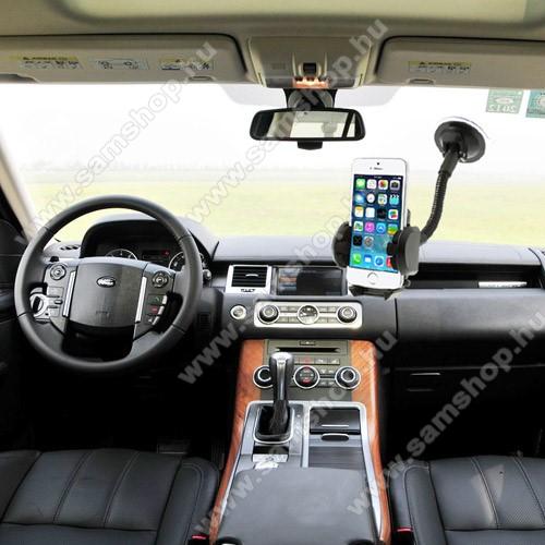 SAMSUNG Galaxy C7 Pro (SM-C7000)UNIVERZÁLIS gépkocsi / autós tartó - multifunkciós - szélvédőre vagy szellőző rácsra helyezhető - 45-120 mm-ig nyíló bölcsővel