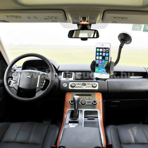 APPLE iPhone 7 PlusUNIVERZÁLIS gépkocsi / autós tartó - multifunkciós - szélvédőre vagy szellőző rácsra helyezhető - 45-120 mm-ig nyíló bölcsővel