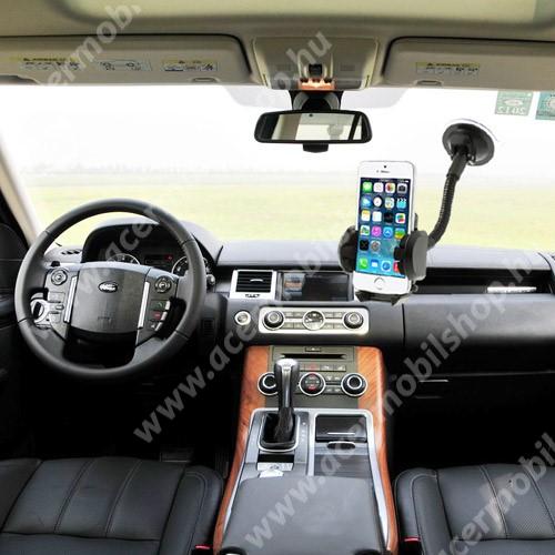 ACER Liquid Z110 UNIVERZÁLIS gépkocsi / autós tartó - multifunkciós - szélvédőre vagy szellőző rácsra helyezhető - 45-120 mm-ig nyíló bölcsővel