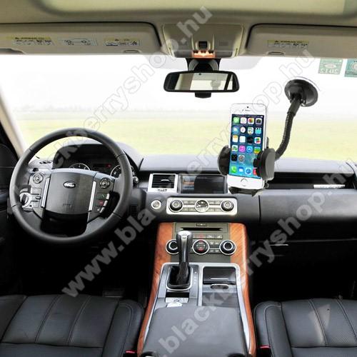 BLACKBERRY Evolve XUNIVERZÁLIS gépkocsi / autós tartó - multifunkciós - szélvédőre vagy szellőző rácsra helyezhető - 45-120 mm-ig nyíló bölcsővel