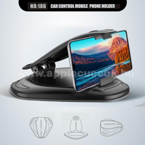 APPLE iPhone 3GUNIVERZÁLIS gépkocsi / autós tartó - műszerfalra rögzíthető, max.  85mm-es befogó csipesszel, max 4-6
