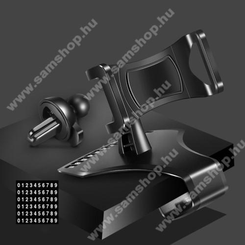 SAMSUNG SGH-U900 SoulUNIVERZÁLIS gépkocsi / autós tartó - műszerfalra rögzíthető, 360°-ban forgatható, parkoló számkártya tartó, 4-6