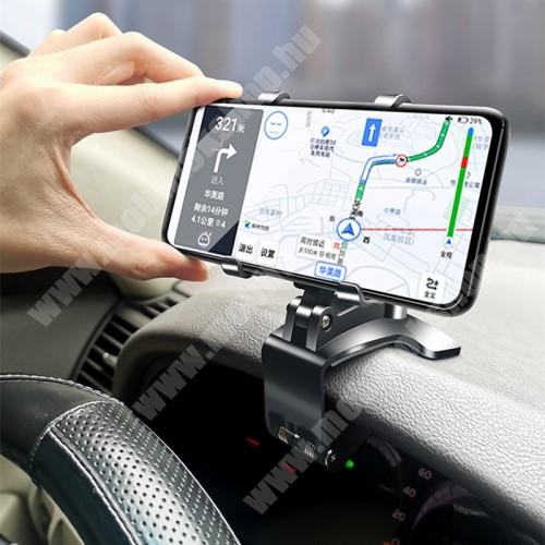 """LG G4c (H525N) UNIVERZÁLIS gépkocsi / autós tartó - műszerfalra, visszapillantóra, napellenzőre rögzíthető, 4-6.5""""-os készülékekhez ajánlott, 360°-ban elforgatható, 180°-ban dönthető - FEKETE"""