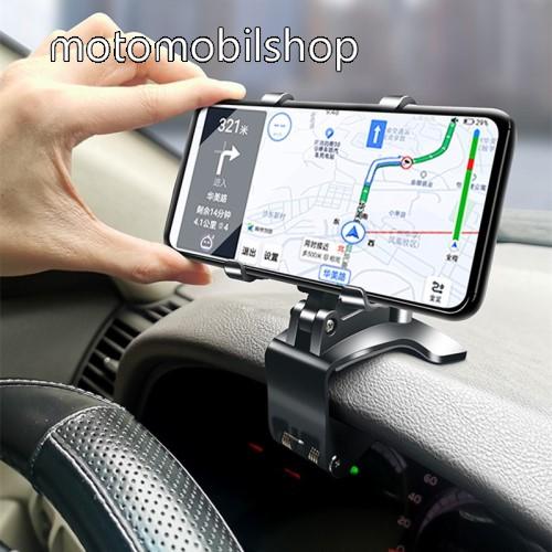 """MOTOROLA Q9 UNIVERZÁLIS gépkocsi / autós tartó - műszerfalra, visszapillantóra, napellenzőre rögzíthető, 4-6.5""""-os készülékekhez ajánlott, 360°-ban elforgatható, 180°-ban dönthető - FEKETE"""