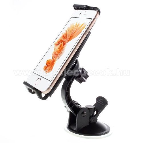 APPLE iPhone 7 PlusUNIVERZÁLIS gépkocsi / autós tartó - tapadó korongos / szélvédőre helyezhető, 360°-ban forgatható, 110 - 160 mm-ig állítható bölcsővel